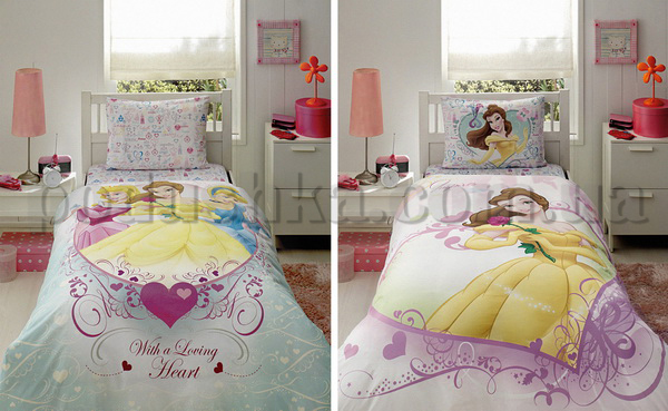 Постельное белье TAC Princess Belle Heart с простыней на резинке