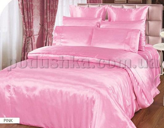 Постельное белье ARYA Pink атлас