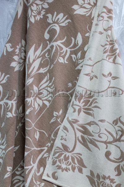 Покрывало шенилловое Klippan Saule 1811 бежево-белое
