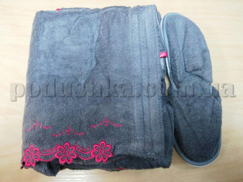 Набор для сауны женский Nusa NS-270 серый
