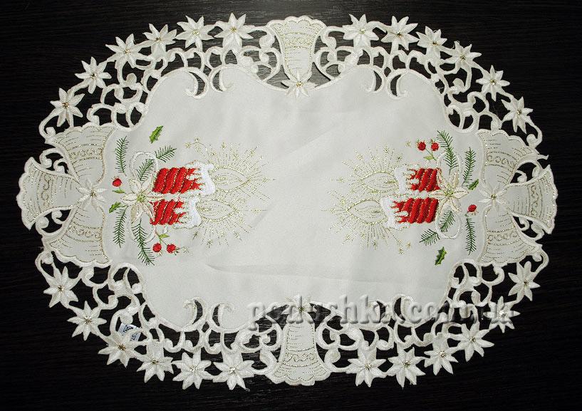 Салфетка новогодняя 5741-R (с красным)