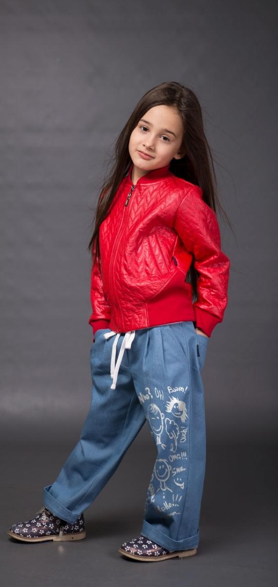 куртка бомбер червона для дівчинки
