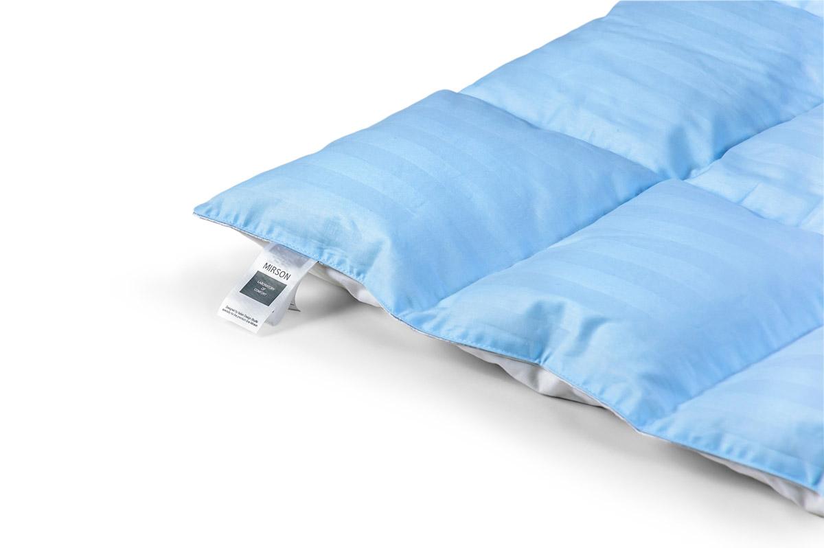 Одеяло детское пуховое кассетное Зима MirSon Valentino белый пух 100 % Премиум 034 зимнее 110х140 см вес 700 г. MirSon