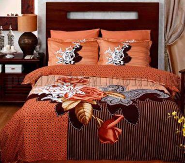 Постельное белье TAC Avalon коричневый