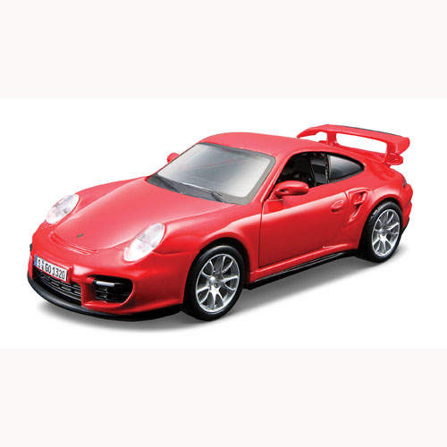 Автомодель - Porsche 911 GT2 (ассорти красный, желтый, 1:32)