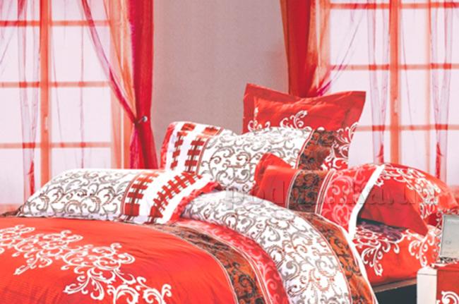 Наволочка Вилюта 8630 белая с красным