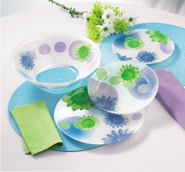 Сервиз столовый Luminarc FLOWERS DREAM blue 19 предметов