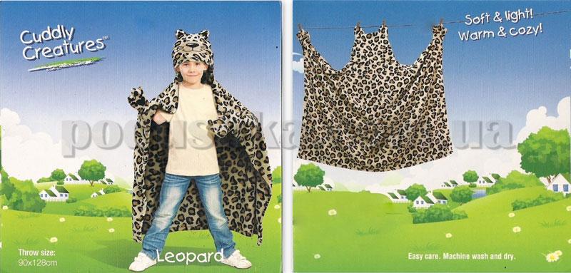 Плед-накидка детский Le Vele Leopard