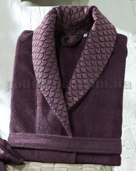 Халат махровый ISSIMO MIRANDA PURPLE пурпурный