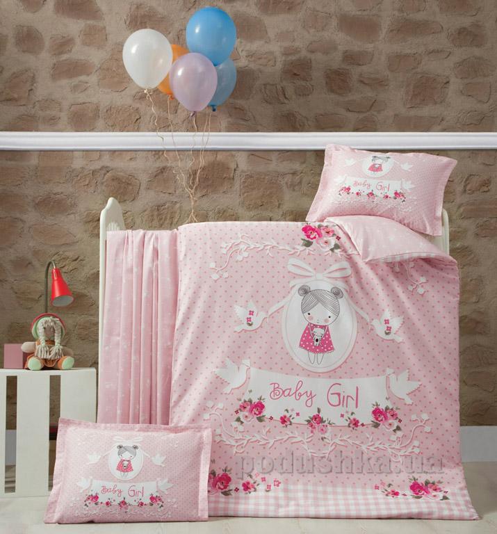 Детское постельное белье c пледом Luoca Patisca Pretty gir