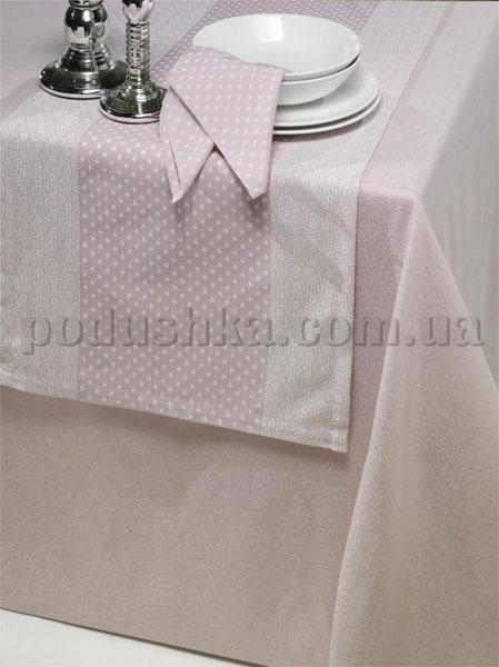 Скатерть ISSIMO SPOTY PINK  с салфетками