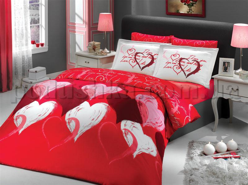 Постельное белье Hobby I love you красный