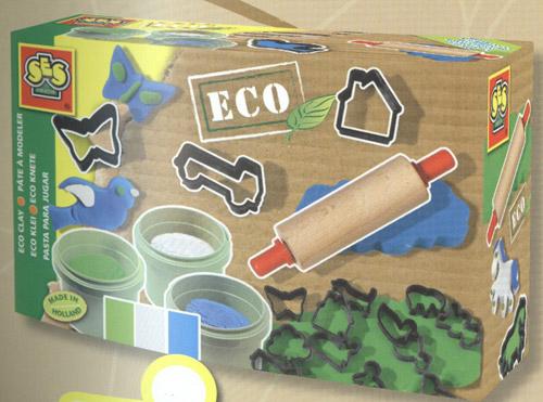Набор для занятий лепкой - серии Эко (3 цвета, скалка, формочки)