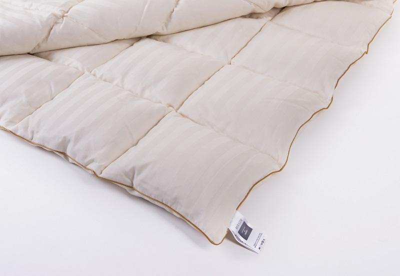 Одеяло детское пуховое кассетное Зима MirSon Carmela белый пух 100 % Премиум 035 зимнее 110х140 см вес 700 г. MirSon