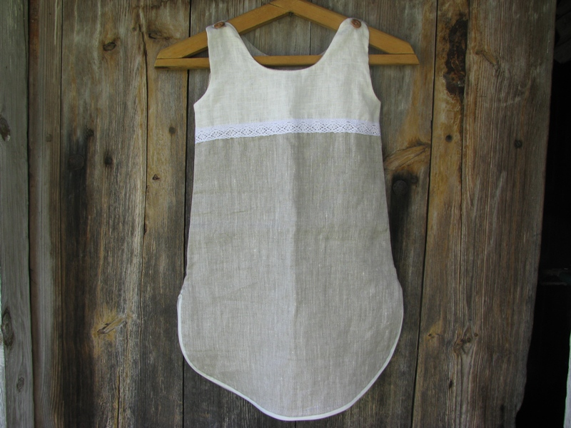 Детское одеяло-накидка льняная