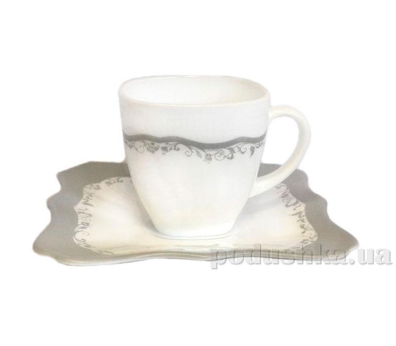 Чайный сервиз Luminarc Authentic Silver Black H8407