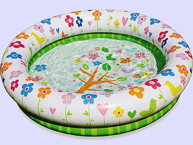 Бассейн надувной Intex 57427 с принтом Цветы