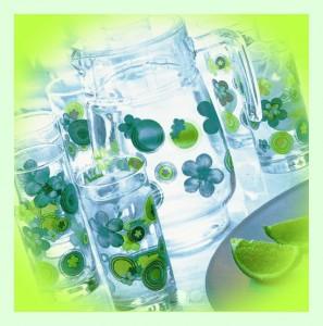 Комплект для напитков Luminarc BUBLES FLOWERS ANIS