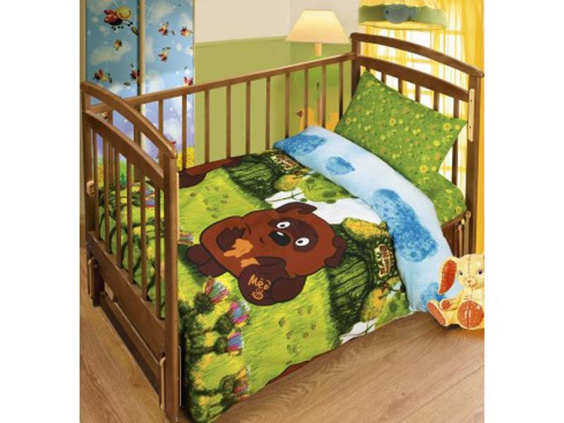 Постельное белье в кроватку В гостях у Винни