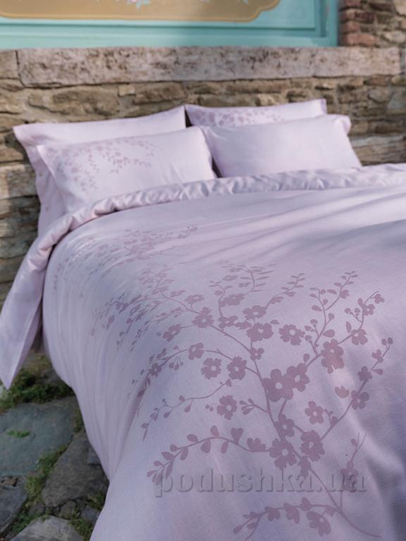 Постельное белье Buldans Tomurcuk розовое Двуспальный евро комплект  Buldans
