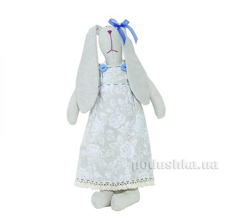 Декоративная игрушка Зайка в одежде Прованс Белая роза 2172
