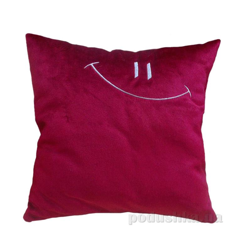 Декоративная меховая подушка Home line Смайл