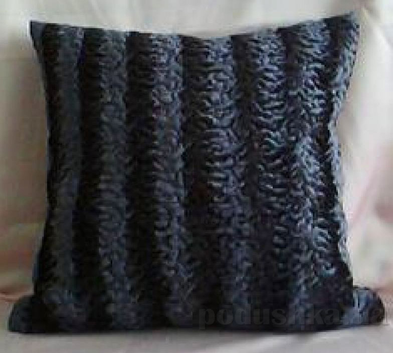 Декоративная меховая подушка Lodex Каракуль
