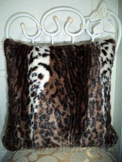 Декоративная меховая подушка Lodex Пони-Тигр