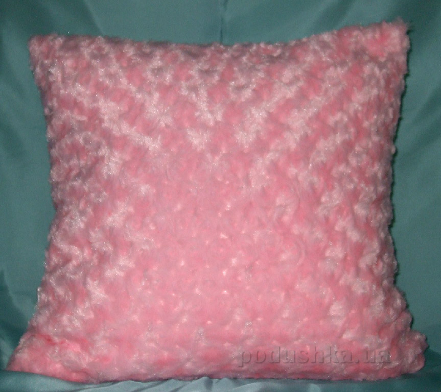 Декоративная меховая подушка Lodex Розовый виток