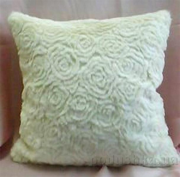 Декоративная меховая подушка Lodex Розы