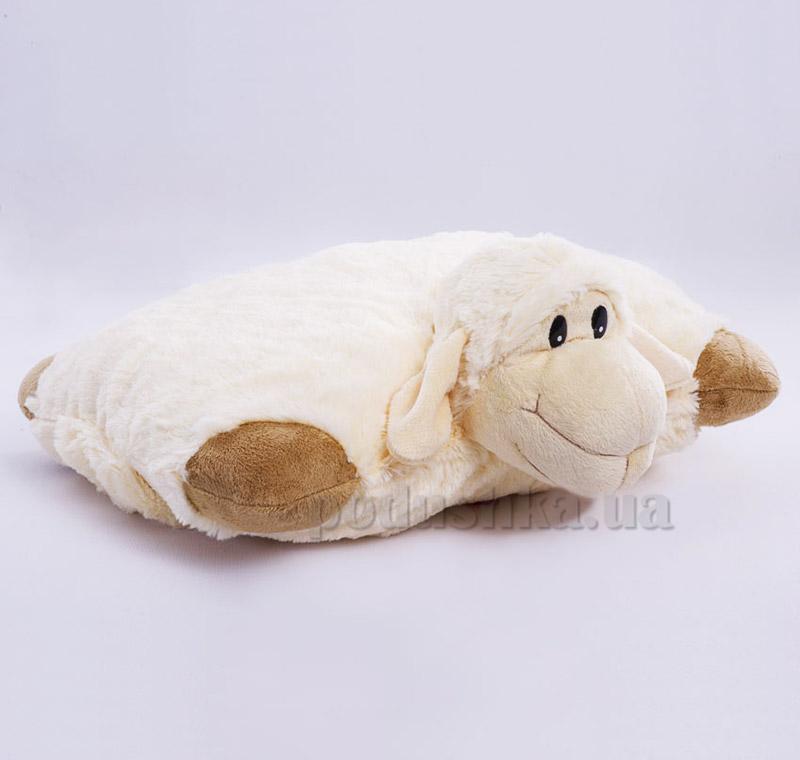Декоративная подушка овечка Белла Копица коричневая