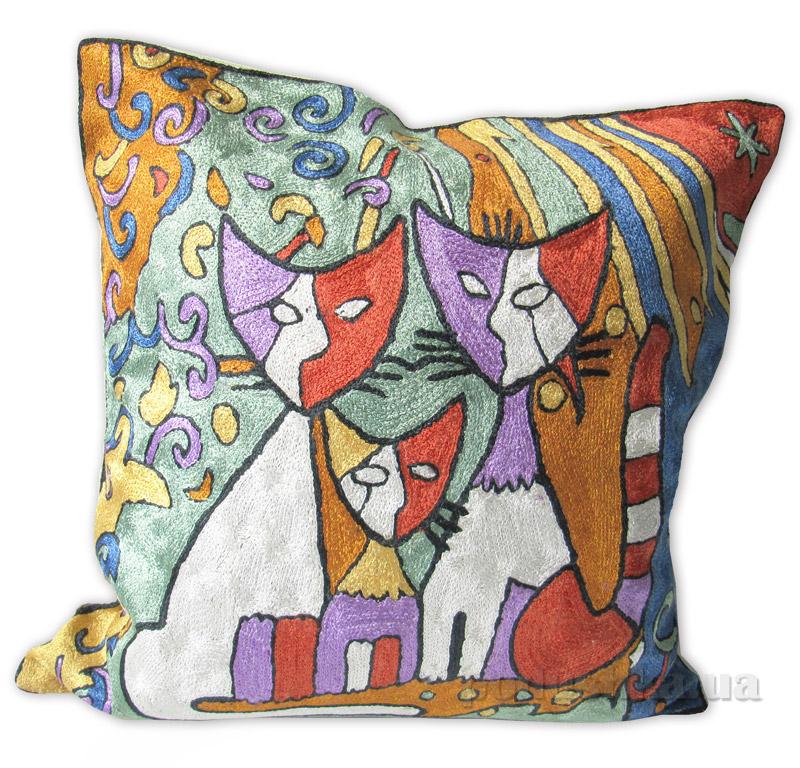 Декоративная подушка ручной работы Коты