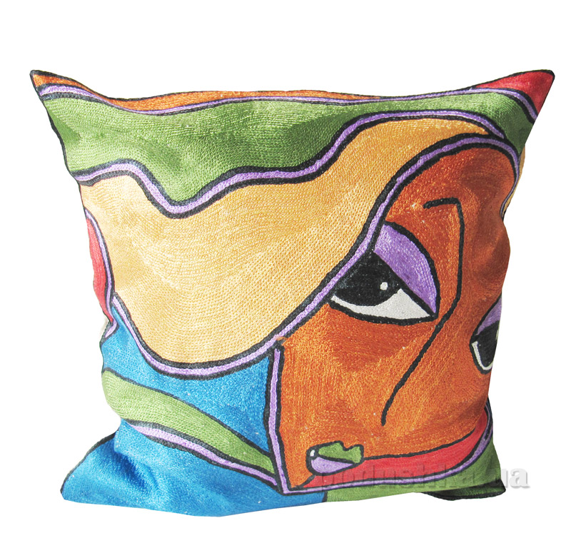 Декоративная подушка ручной работы Милая девушка