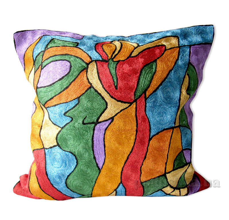 Декоративная подушка ручной работы Влюбленная пара