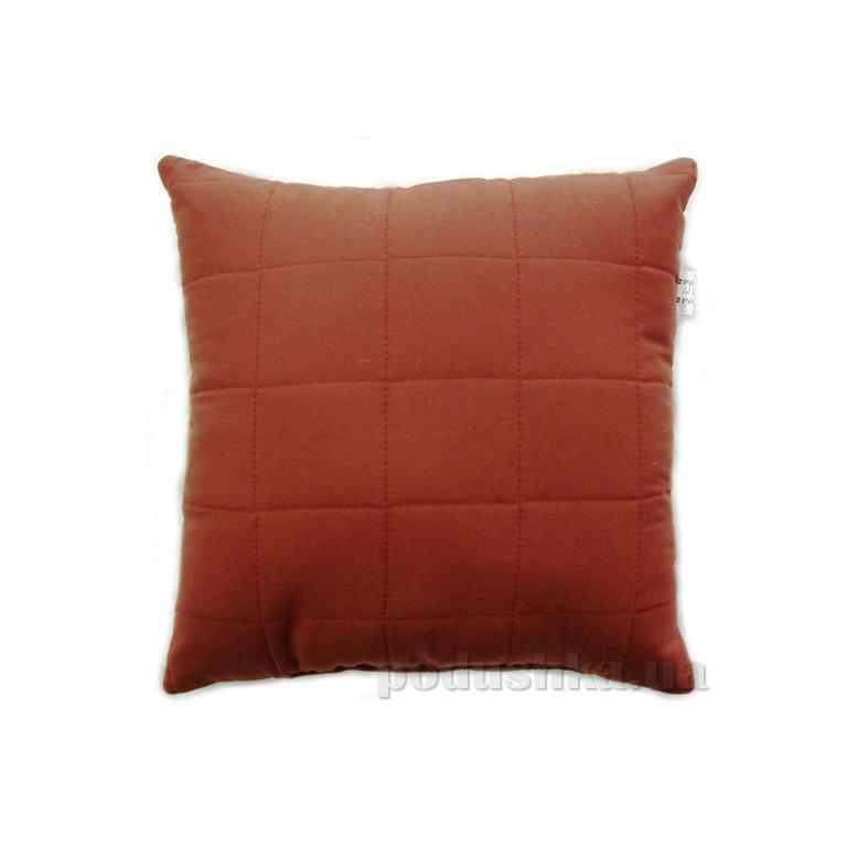 Декоративная подушка Руно Квадраты бордовая