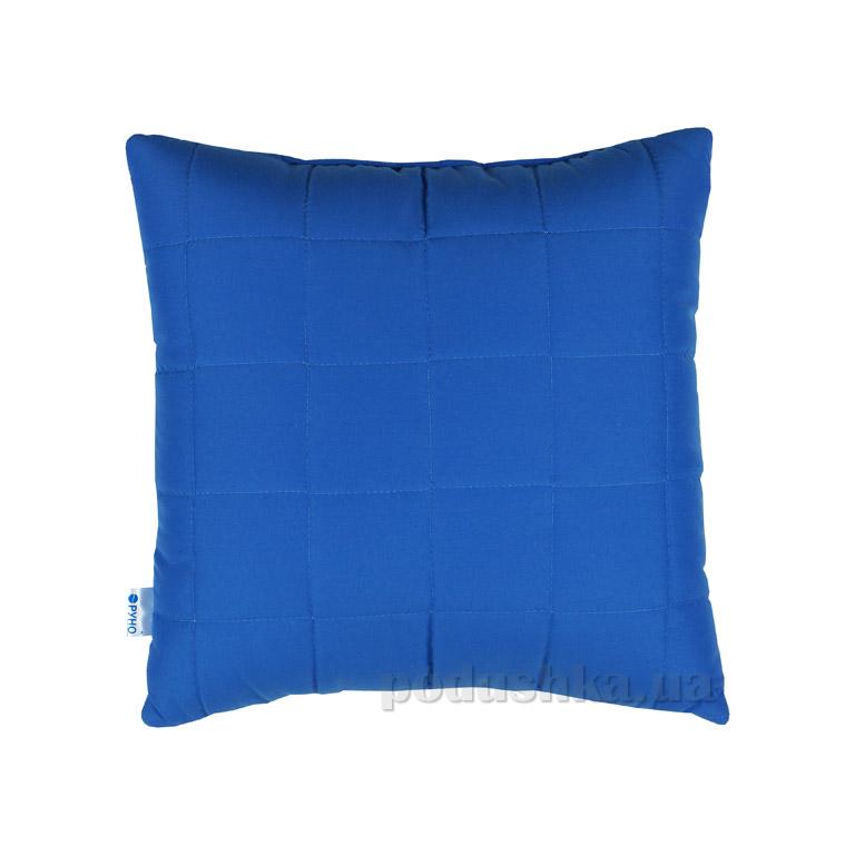 Декоративная подушка Руно Квадраты синяя