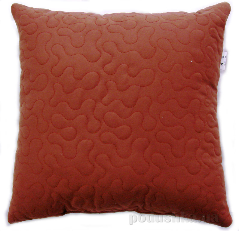 Декоративная подушка Руно Лабиринт бордовая