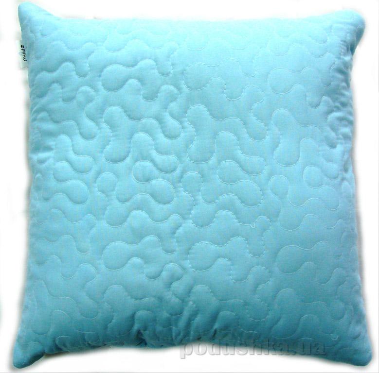 Декоративная подушка Руно Лабиринт голубая
