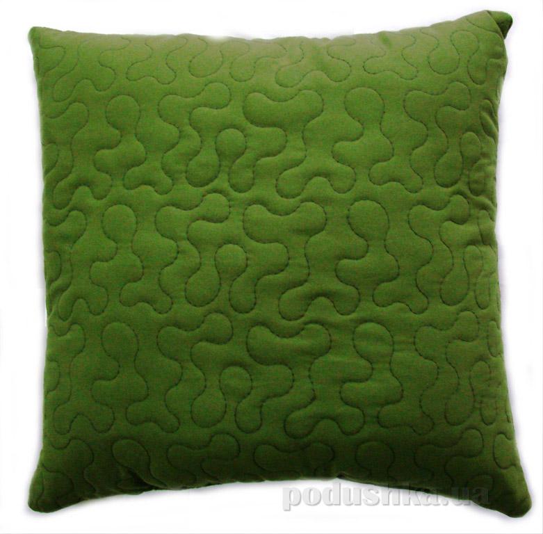 Декоративная подушка Руно Лабиринт зеленая