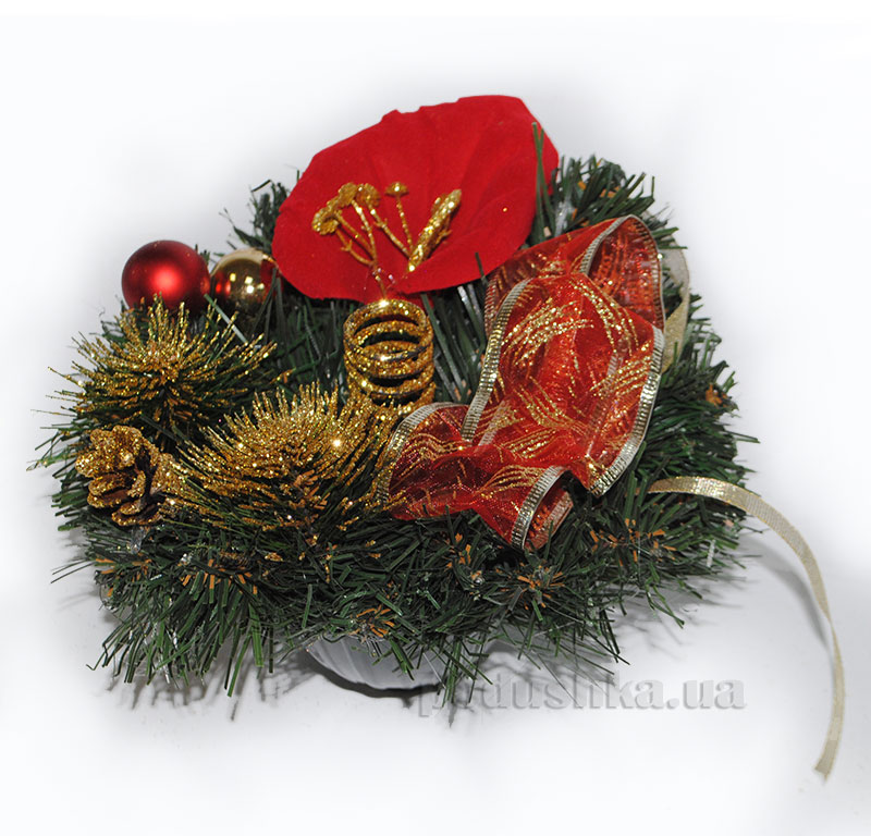 Декоративный подсвечник Красная Калла Лоза и Керамика