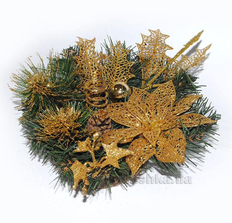 Декоративный подсвечник Золото Лоза и Керамика