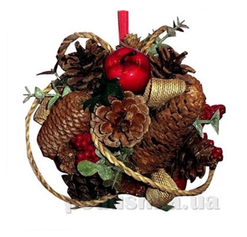 Декоративный шар Шишка Новогодько 971445