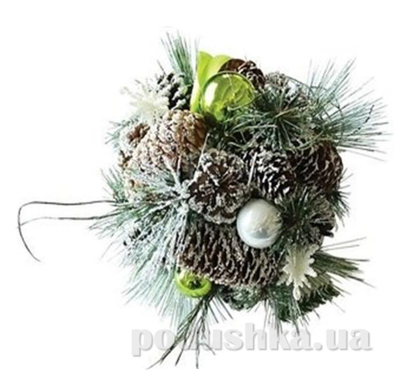 Декоративный шар Шишка с украшением Новогодько 800582