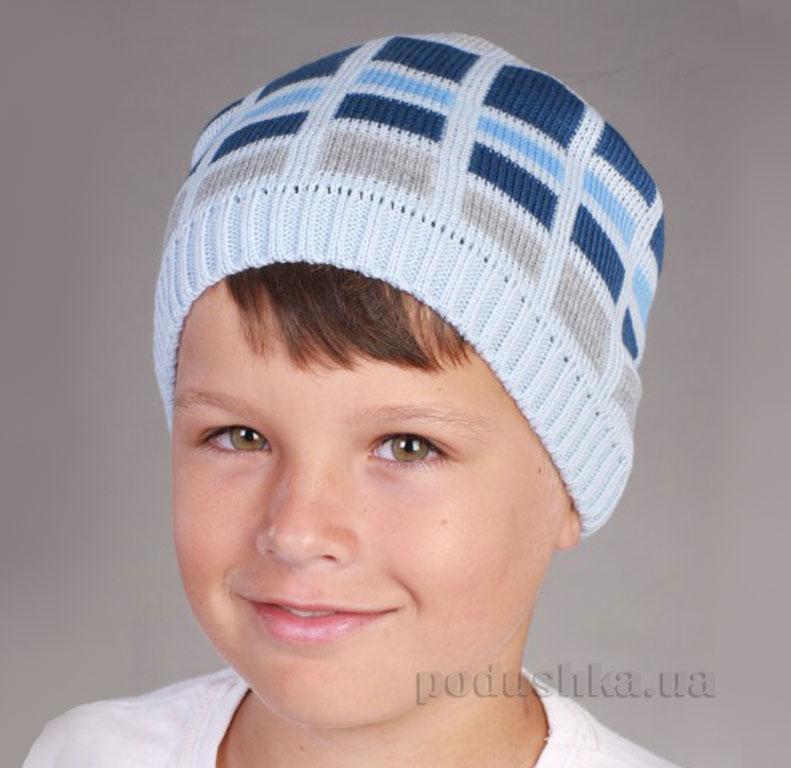 Демисезонная шапка Бабасик Алекс голубая