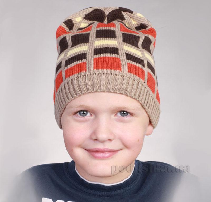 Демисезонная шапка Бабасик Алекс коричневая