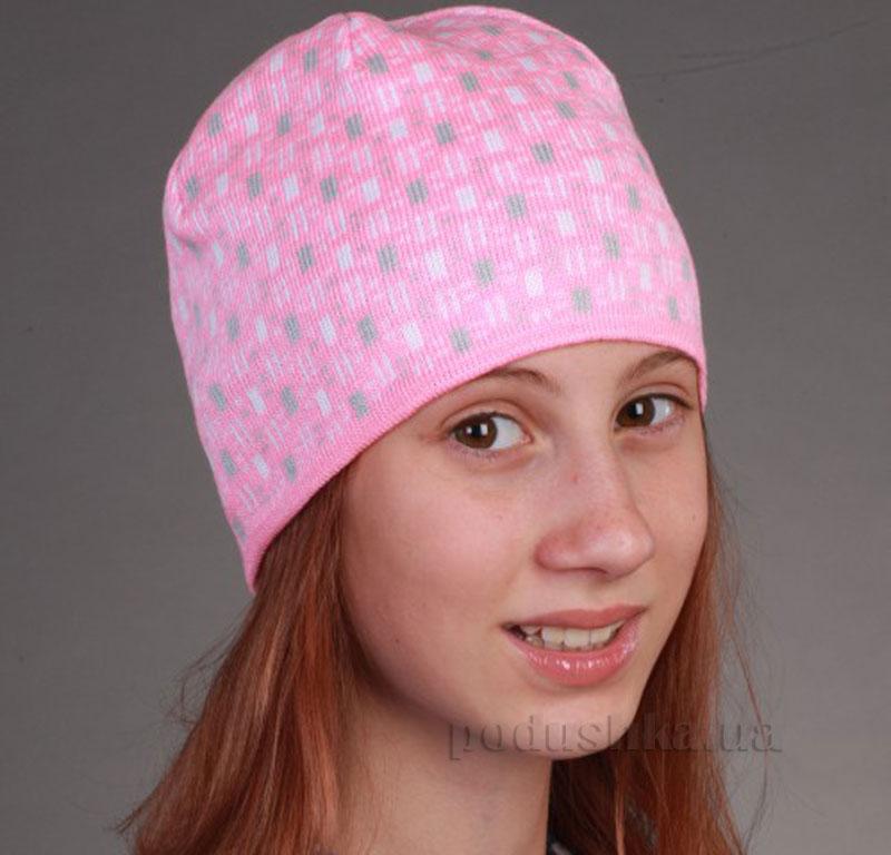 Демисезонная шапка Бабасик Катя розовая