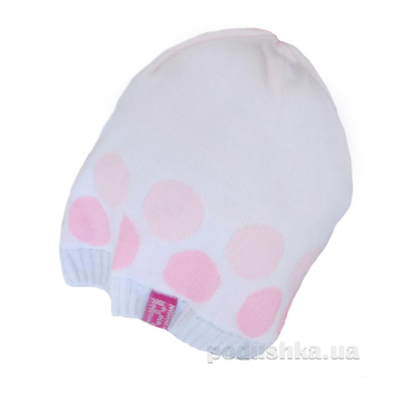 Демисезонная шапка Бабасик Слава белая
