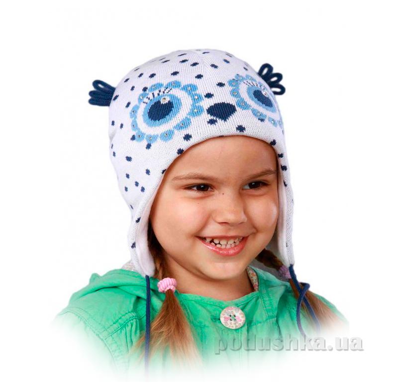 Демисезонная шапка Бабасик Сонька бело-голубая