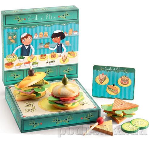 Деревянная игра Бутерброд Эмили с оливкой DJ06620 DJECO