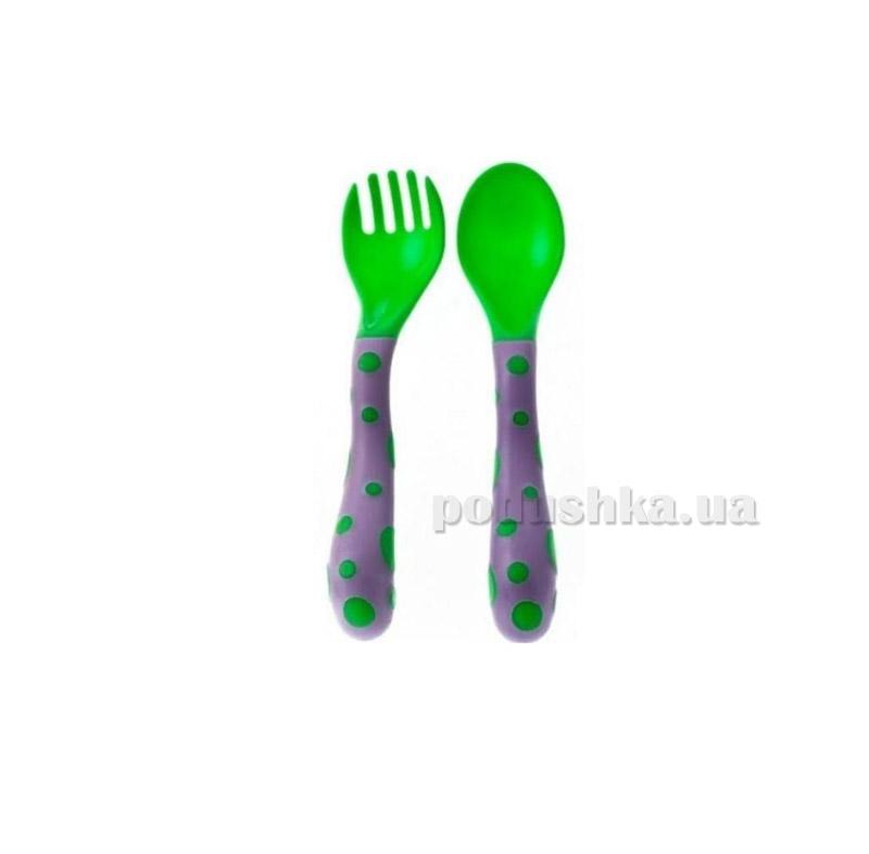 Десткий столовый набор Nuby фиолетово-зеленый